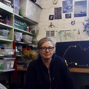 Fiona Meller in her studio