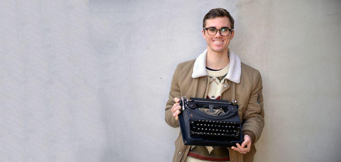 Aiden's grandmothers typewriter