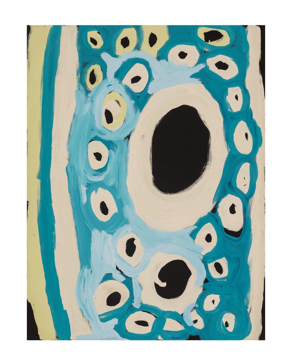 Katjarra Butler, Ngaanyatjarra/Pintupi people, Western Australia, born Kuun, near Kulkurta and Purrungu, Western Australia 1946 Puyurr, 2018, Tjukurla, Western Australia, synthetic polymer paint on canvas, 121.9 x 91.4 cm © Katjarra Butler/Tjarlirli Art