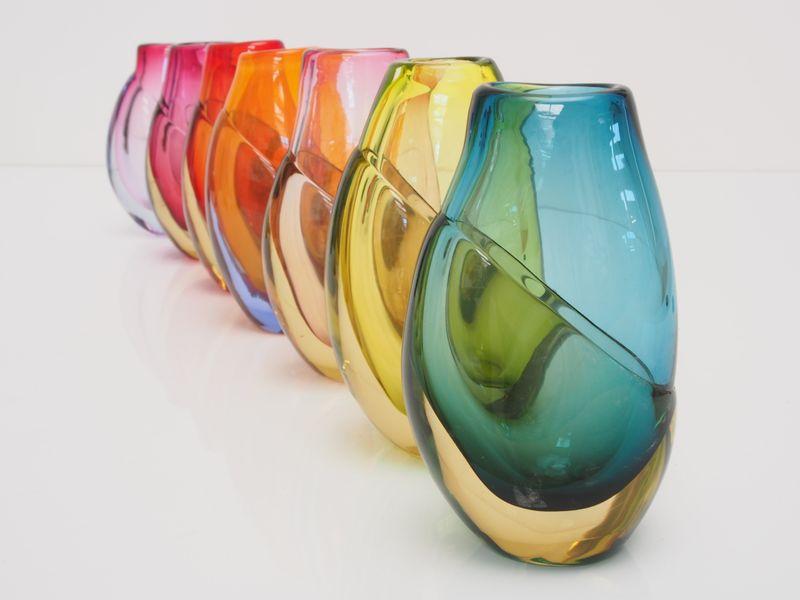 Harriet Schwarzrock Dipped vases
