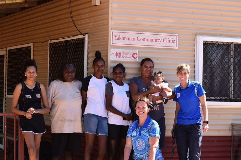 Broome-based RFDS Primary Health Care nurse Kate Jones and Flying Doctor Tanya Ronaldson report the second All Women's GP clinic for the year held las