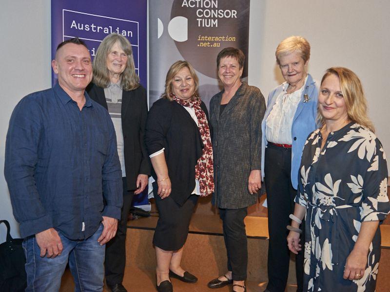 Australian Design Honourees 2017: L - R: Oliver Smith, Grace Cochrane, Maria Grimaldi, Vicki Grima, Jane Burn and Anna Grigson. Photo: Simon Cardwell.