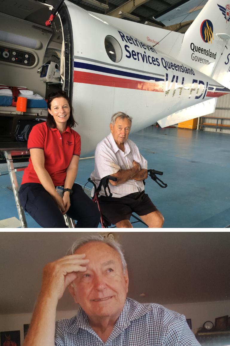 Rockhampton Flight Nurse Carolyn Overy with Ray Grace