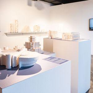 Endangered + Extinct exhibition of architectural ceramic sculptures at Australian Design Centre, 2021