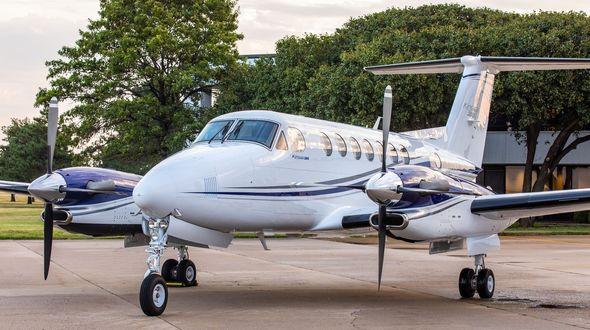 King Air B360 on the tarmac