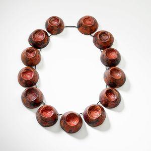 Rock Neckpiece made from copper