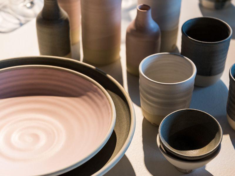Katherine Mahoney ceramics in Object Shop 2020. Photo: Rhiannon Hopley.