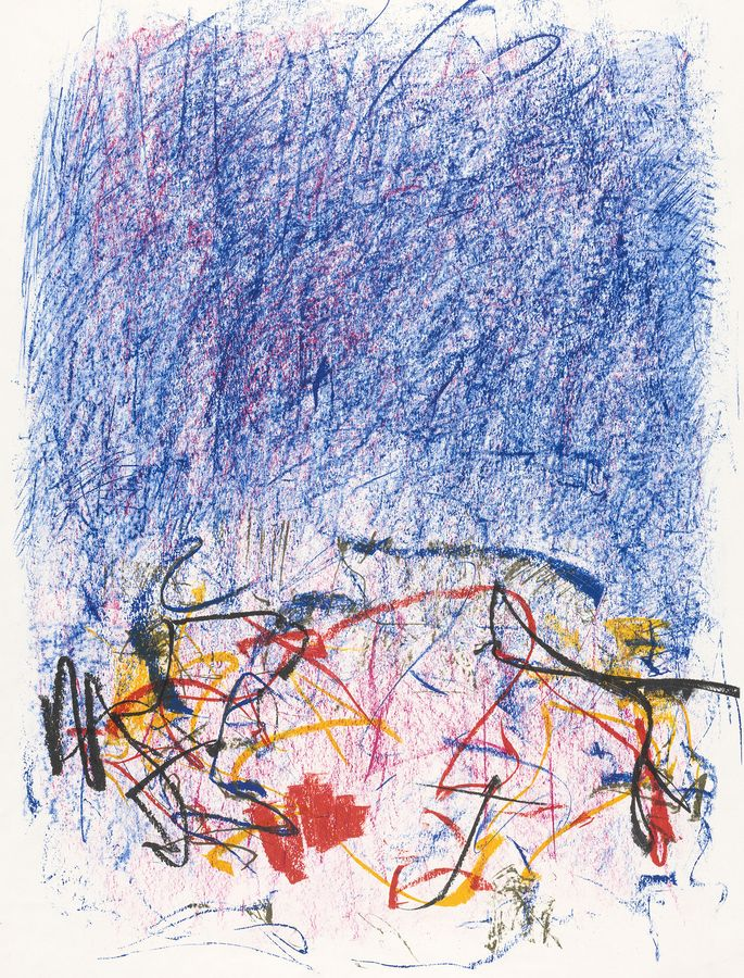 Abstract colour lithograph