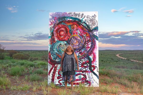 Yaritji Young with Tjala Tjukurpa – Honey ant story, 2021, Amata, South Australia