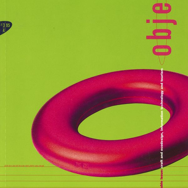 Magazine cover with a pink ring on a lime green background