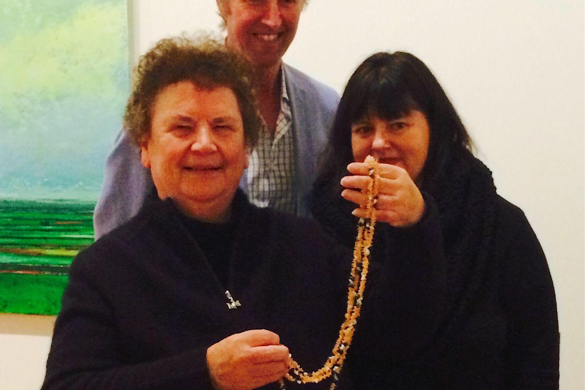 Lola Greeno with Lisa Cahill and Richard Mulvaney