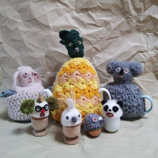 Vanessa Ion tea and egg cosies