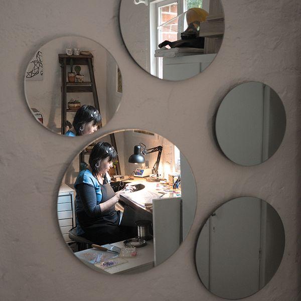 Kath Inglis in studio mirrors