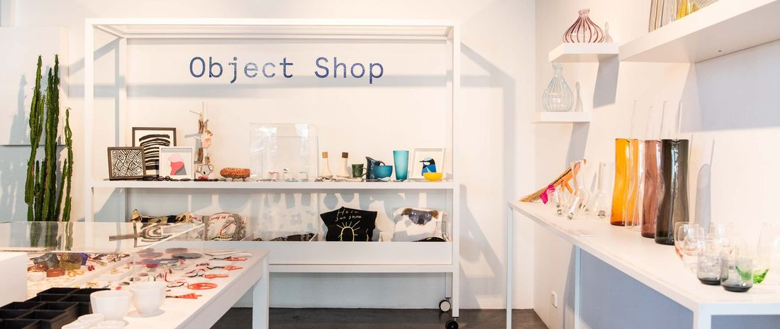 view of inside of Object Shop featuring handmade craft and design objects and homewares