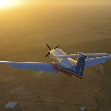 WA Aircraft into Sunset