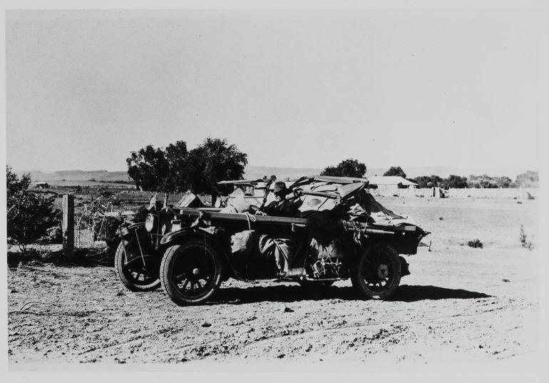 John Flynn in his Dodge