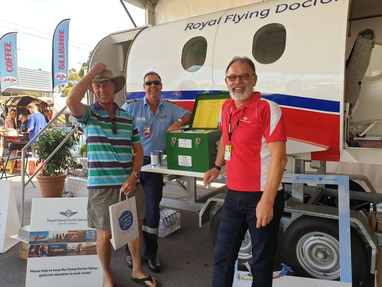 Michael Bleus at RFDS event