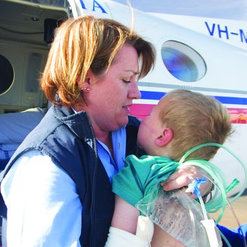 RFDS nurse with a baby