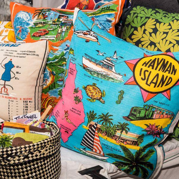 Love and West cushions, Rhiannon Hopley