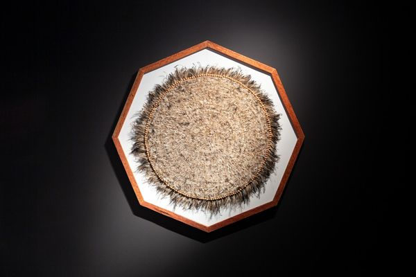 installation view: Ramsay Art Prize 2021 featuring Yurndu (Sun) by Juanella Mckenzie, 2020; Art Gallery of South Australia, Adelaide; photo: Saul Steed.