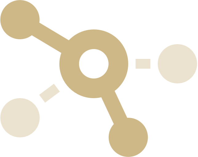 Stylised icon of a network diagram