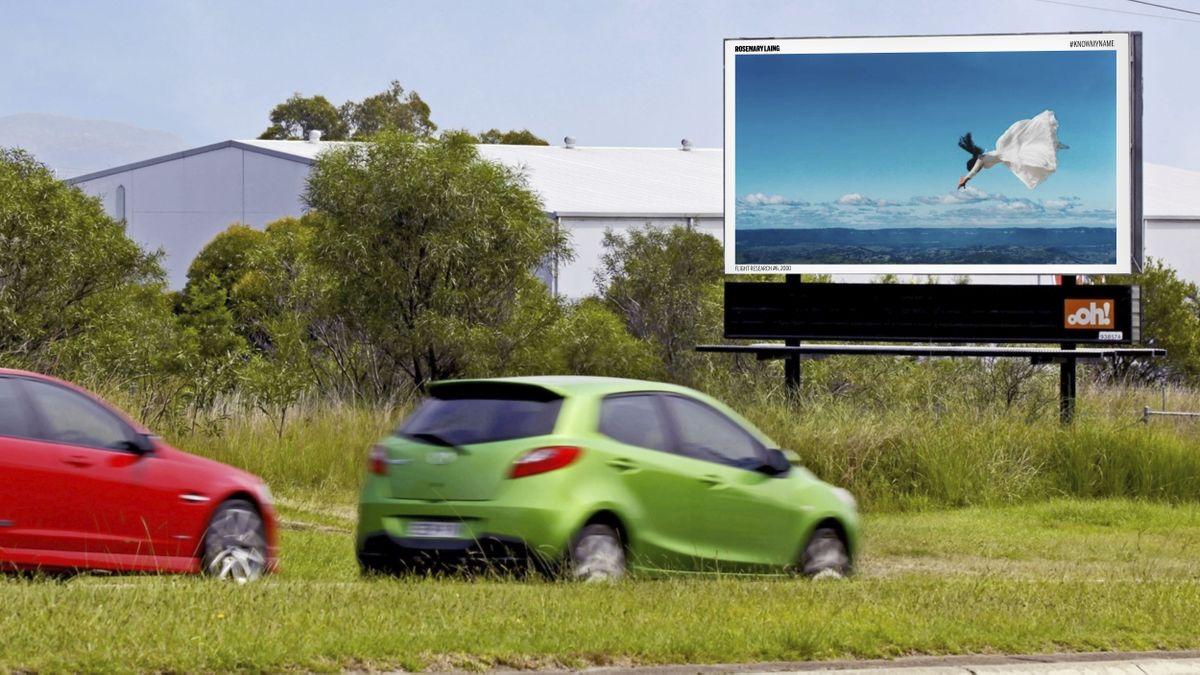 ooh media billboard featuring Rosemary Laing