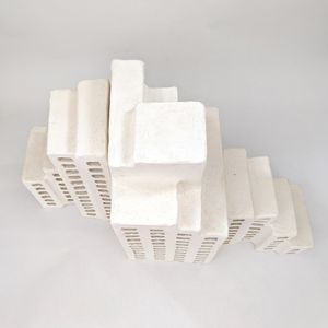 White ceramic architectural model of The Sirius building