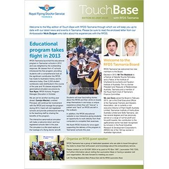 Touch Base-  May 2013
