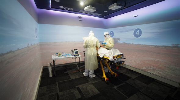 Inside one of RFDS (Queensland Section) Simulation Training Rooms