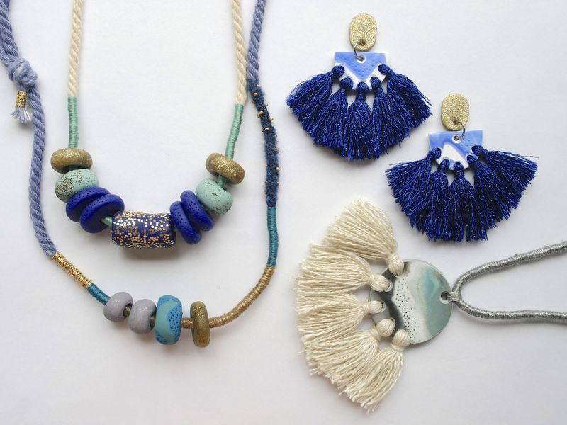 Kelly Chapman, Kelaoke, Polymer Clay Necklaces and Earrings, 2017. Image Courtesy of the artist