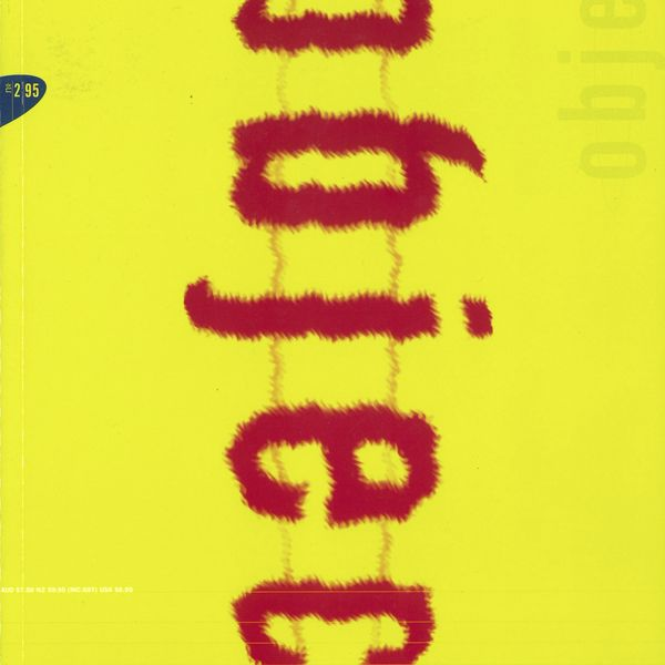 Magazine cover with yellow background the the word 'Object' written in red
