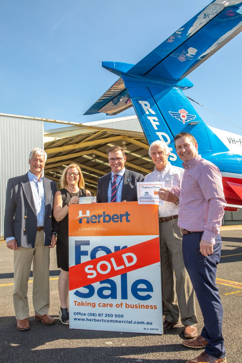 Supporters at RFDS Hangar