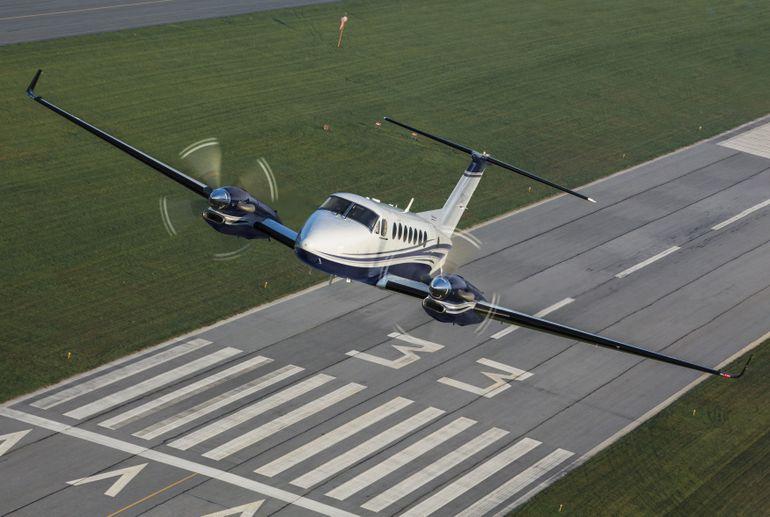 Beechcraft King Air B360 in the air