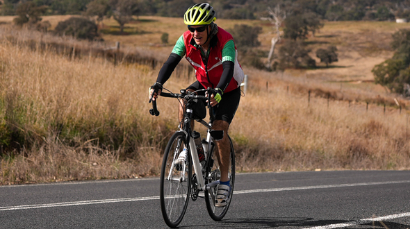 Terence Miller riding to raise money for RFDS