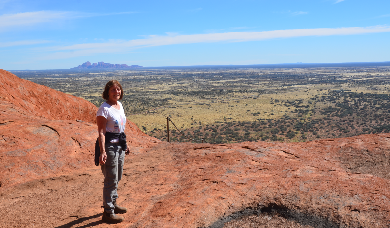 Shirley Mclean pictured in Outback South Australia