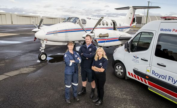Picture of RFDS vehicle and plane