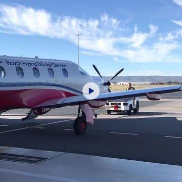 Backing an Aircraft into a hanger
