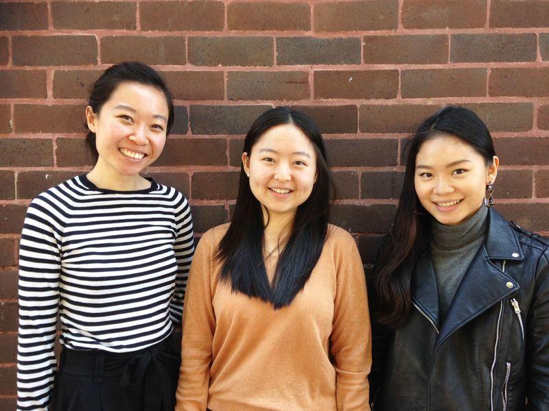 Rachael Tse, Huijinou Wang and Jacklin Evelina Tjokro