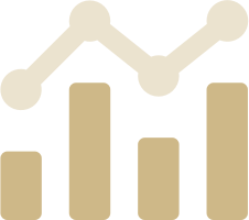 Stylised icon of a bar chart and line graph