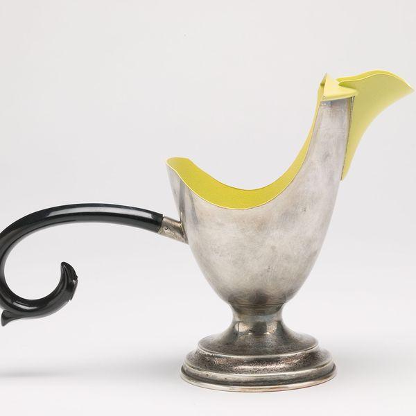 Christopher Earl Milbourne, BirdPot, 2007, collected coffee pot, automotive paint. Photo: Jeremy Dillon
