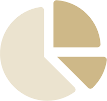 Stylised icon of a pie chart