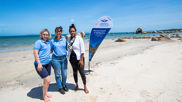 Naomi Hobson with RFDS Staff