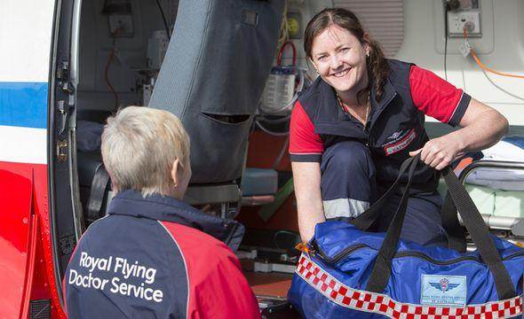Flight nurses in action