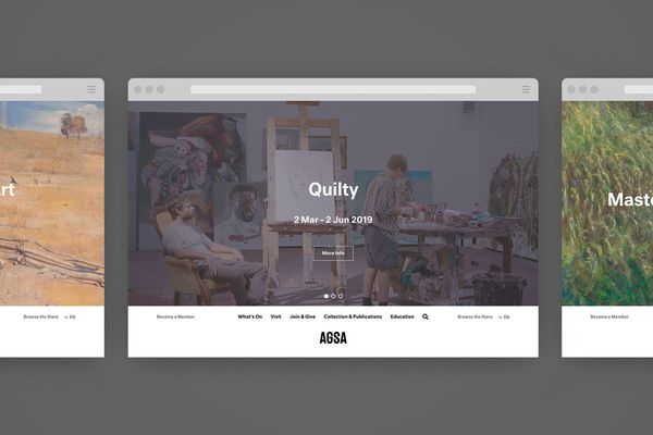 Screenshots of the SGSA website homepage