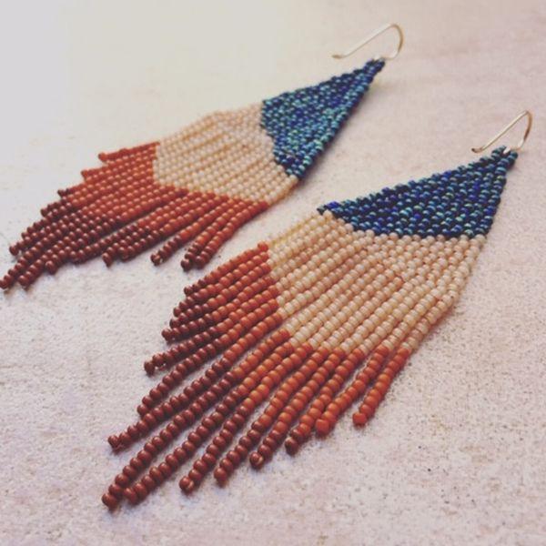 Wild Fibres, beaded earrings