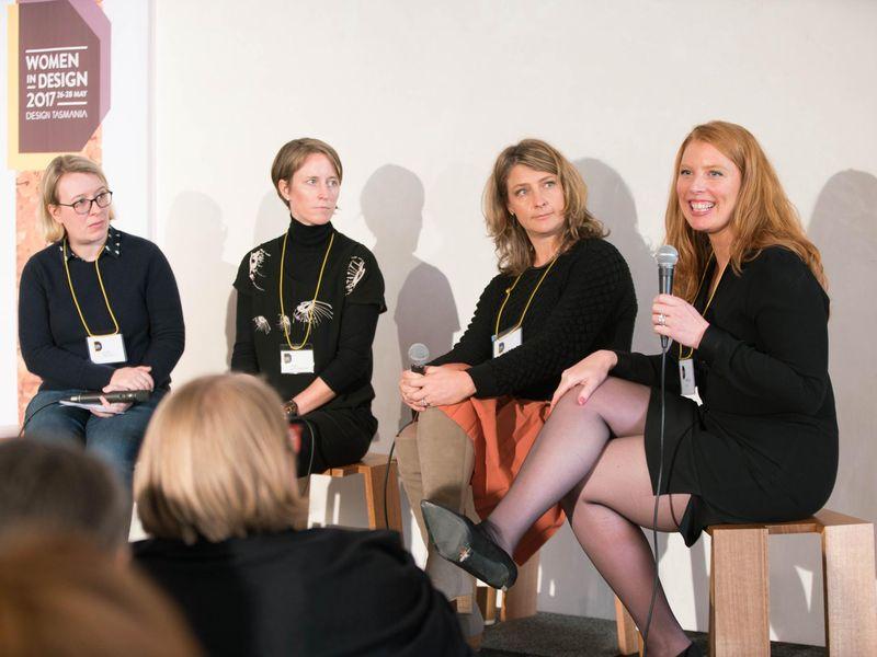Women in Design panel Bruce Moyle, Joffre Street Productions