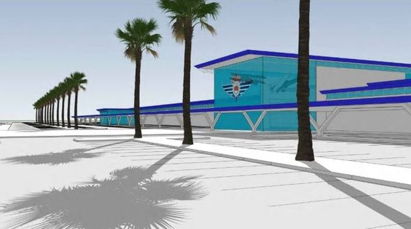 Artist impressions of the planned expansion of the Royal Flying Doctor Service's base in Townsville.