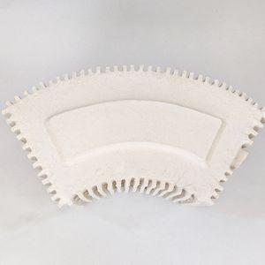 White ceramic architectural model of the 3M Building