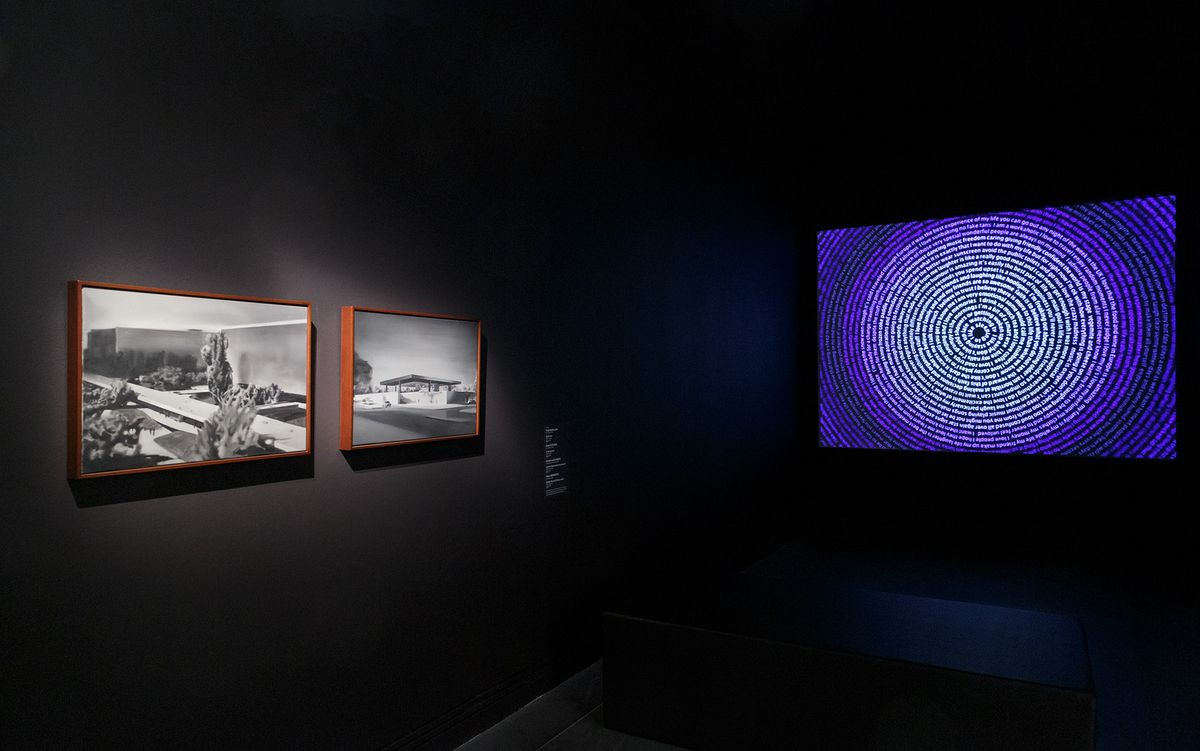 installation view: Ways of seeing featuring Untitled by David Noonan and In the beyond by Grant Stevens, Art Gallery of South Australia, Adelaide, 2019; photo: Saul Steed.