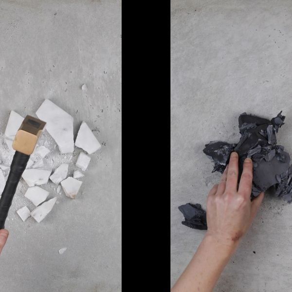 Emma Fielden, A Diminishing Force, 2019, Dimensions variable, 10:30 minutes, Two-channel HD video with sound.